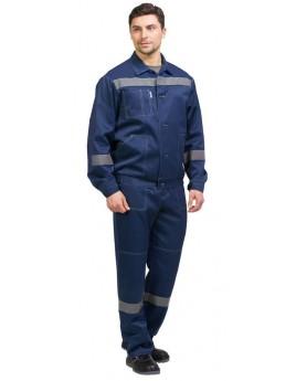Костюм мужской летний ЛЕГИОН NEW темно-синий (куртка+брюки)